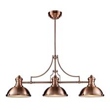 Chadwick 3-Light Billiard Light in Antique Copper