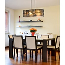 Cubist Collection 4 light chandelier in Brushed Nickel
