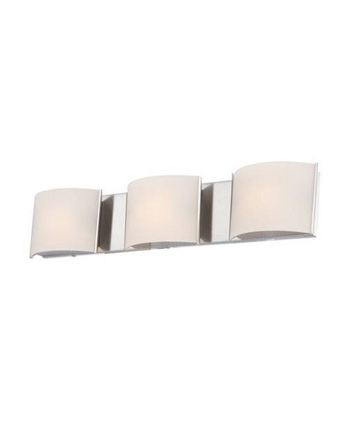 ELK Lighting Pandora Triple Bath and Vanity with White Opal Glass and Chrome Finish