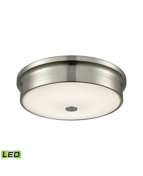 ELK Lighting Round LED Flushmount in Satin Nickel and Opal Glass - Small