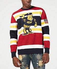 Heritage America Mens Striped Graphic Sweatshirt