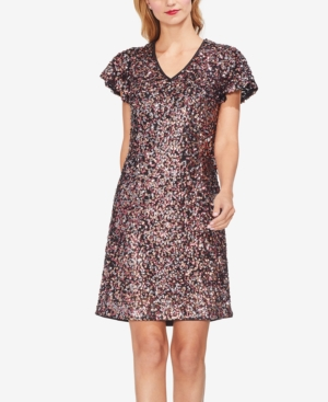 VINCE CAMUTO MULTICOLORED SEQUINED DRESS