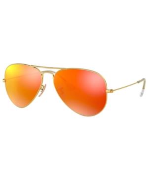 Image of Ray-Ban Sunglasses, RB3025 Aviator Mirror