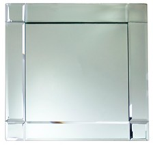 Jay Import Mirror Framed Square Charger Plate