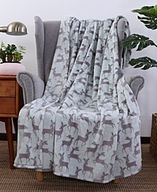 Blanket & Home Co.® Holiday Print Velvety Plush Throw