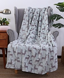 Berkshire Blanket & Home Co.® Holiday Print Velvety Plush Throw