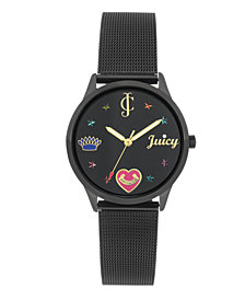 Woman's JC/1025BKBK Mesh Bracelet Watch