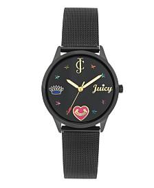 Woman's Juicy Couture, 1025BKBK Mesh Bracelet Watch