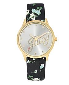 Woman's 1072SVBK Strap Watch