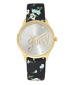 Woman's Juicy Couture, 1072SVBK Strap Watch