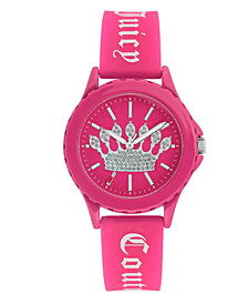 Woman's Juicy Couture, 1001HPHP Silicon Strap Watch