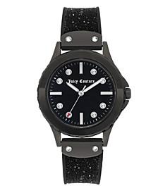 Woman's 1013BKBK Silicon Strap Watch