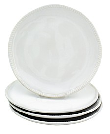 Algarve 4 Piece White Salad Plate Set