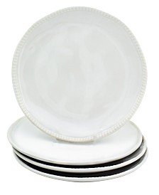 EuroCeramica Algarve 4 Piece White Salad Plate Set