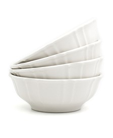 Chloe 4 Piece White Cereal Bowl Set