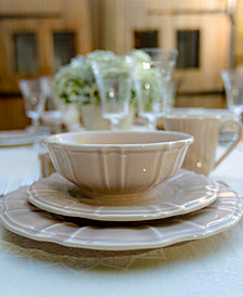EuroCeramica Chloe Taupe Dinnerware Collection