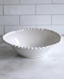 Euro Ceramica Sarar White Pasta Bowl