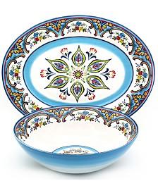 Euro Ceramica Zanzibar 2 Piece Serving Set