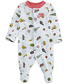 Nike Baby Girls Doodle-Print Footed Cotton Coverall