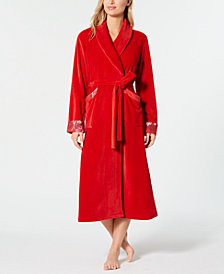 Sesoire Velvet Fleece Wrap Robe
