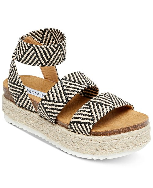 82bf181b324 Steve Madden Women's Kimmie Flatform Espadrille Sandals ...