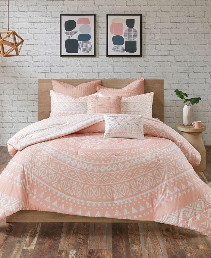 Urban Habitat - Larisa 7-Pc King/Cal King Cotton Reversible Comforter Set