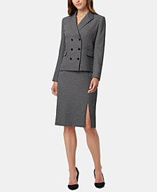 Tahari ASL Double-Breasted Skirt Suit