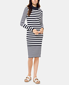 MICHAEL Michael Kors Striped Mock-Neck Dress