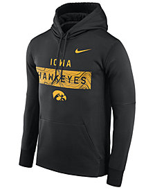 Nike Men's Iowa Hawkeyes Staff Pullover Hooded Sweatshirt