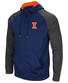 Colosseum Men's Illinois Fighting Illini Magic Rays Full-Zip Hooded Sweatshirt
