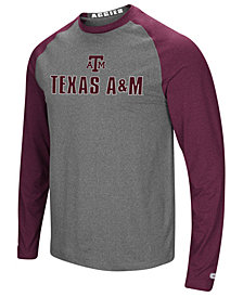 Colosseum Men's Texas A&M Aggies Social Skills Long Sleeve Raglan Top