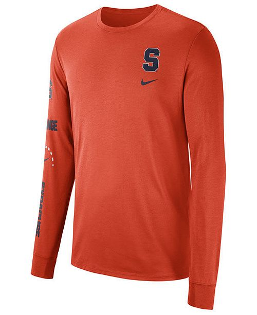 c95b2ea520b9 Nike Men s Syracuse Orange Long Sleeve Basketball T-Shirt - Sports ...