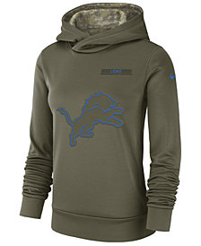 Nike Women's Detroit Lions Salute To Service Therma Hoodie