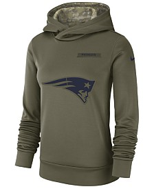 Nike Women's New England Patriots Salute To Service Therma Hoodie