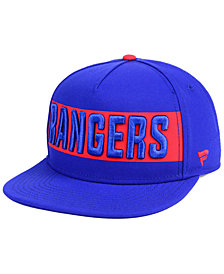 Authentic NHL Headwear New York Rangers Iconic Facing Snapback Cap