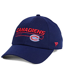Authentic NHL Headwear Montreal Canadiens Rinkside Fundamental Adjustable Cap
