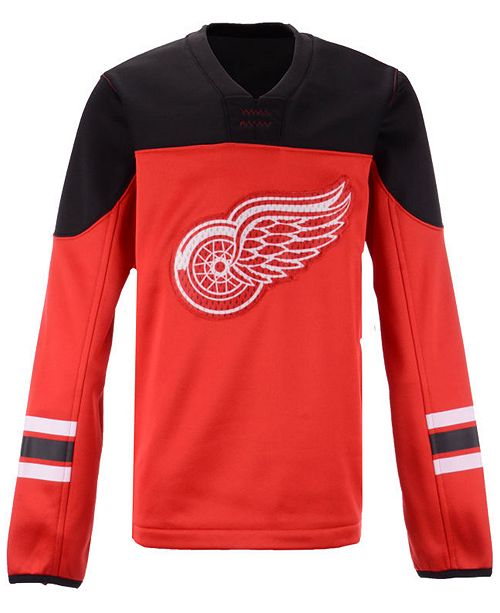 Outerstuff Detroit Red Wings Defenseman Fleece Sweatshirt, Big Boys (8-20)