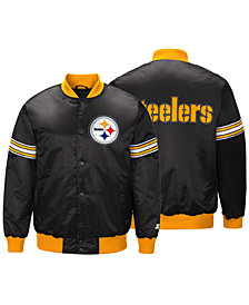 G-III Sports Men's Pittsburgh Steelers Draft Pick Starter Satin Jacket