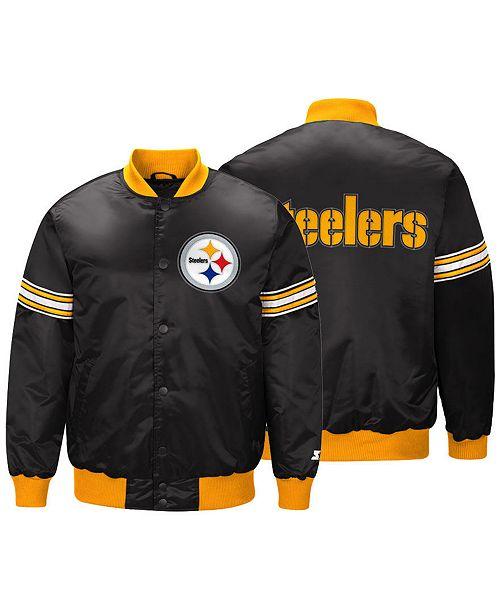 ... G-III Sports Men s Pittsburgh Steelers Draft Pick Starter Satin Jacket  ... eeb38469c