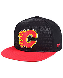 Authentic NHL Headwear Calgary Flames Rinkside Snapback Cap