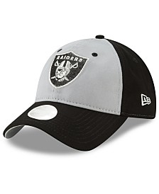 New Era Women's Oakland Raiders Gray Glitter 9TWENTY Cap