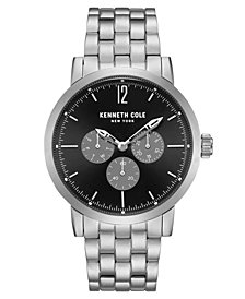 Kenneth Cole New York Men's Multifunction Silver Bracelet Watch 44mm