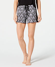 I.N.C. Printed Pajama Shorts, Created for Macy's