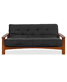 "Simmons Vancouver Vintage Oak Futon Frame With 6"" Beauty Sleep Innerspring Futon Mattress"