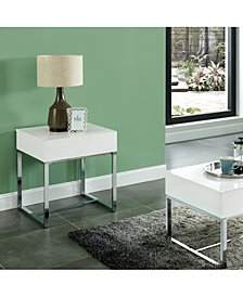 Didly Contemporary Chrome Trestle Base End Table