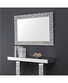 Jerome Geometric Pebbled Rectangular Mirror