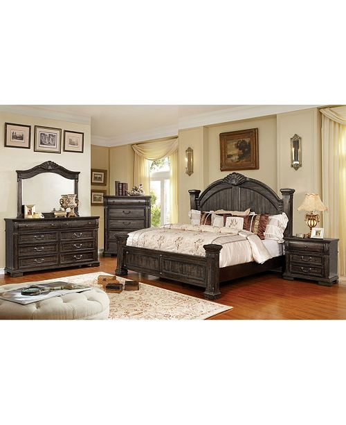 Furniture of America Jeanie Distressed 3-Drawer Nightstand
