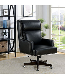 Binker Height Adjustable Nailhead-Trimmed Office Chair