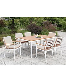 Tinna Two-Tone Rectangular Outdoor Table