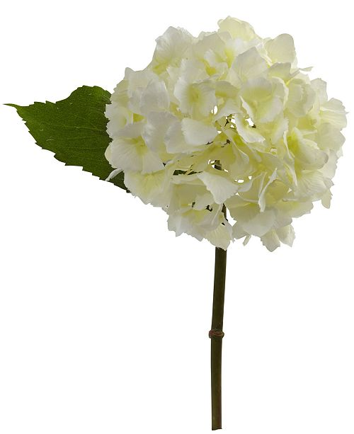 "Nearly Natural 12"" Hydrangea Artificial Flower, Set of 12"